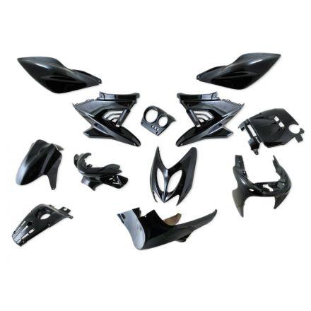 STP - Yamaha Aerox kåpsett - Sort metallic