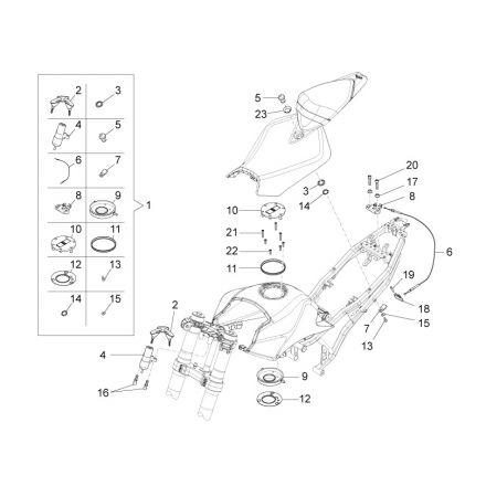 Aprilia - RS4 50 - Lås