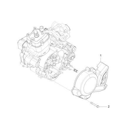 Aprilia - Svinghjulsdeksel - RS4 50