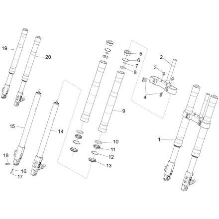 Aprilia - RS4 50 - Mingxing framdemper