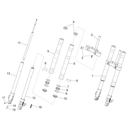 Aprilia - RS4 50 - Paioli framdemper