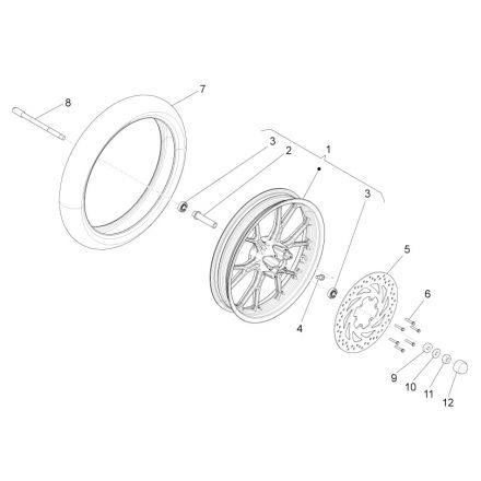 Aprilia - RS4 50 - Framhjul