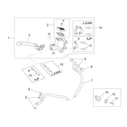 Aprilia - RS4 50 - Bremsesylinder foran