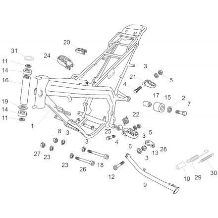 Aprilia - RX 50 12-17 - Ramme