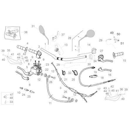 Aprilia - RX/SX 50 11 - Styre