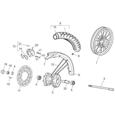 Aprilia - RX 50 11 - Framhjul