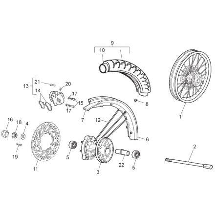 Aprilia - SX 50 11 - Framhjul