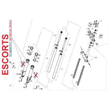 Derbi - DRD/X-Treme50 14-17 - Escorts framdemper