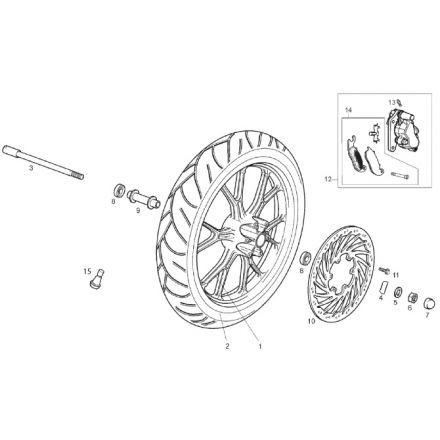 Derbi - DRD/X-Treme50SM 14-17 - Framhjul
