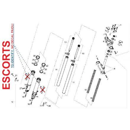 Derbi - DRD/X-Treme50 11-13 - Escorts framdemper