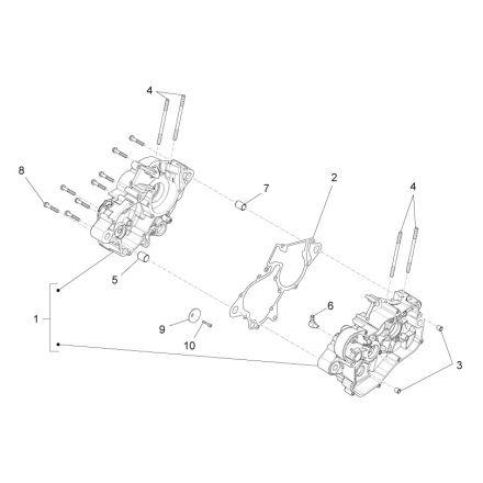 Aprilia - Motorblokk - RS4 50