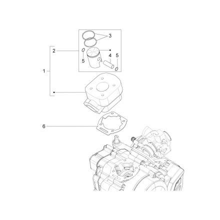 Aprilia - Sylinder - RS4 50