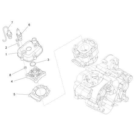 Aprilia - Topplokk - RS4 50