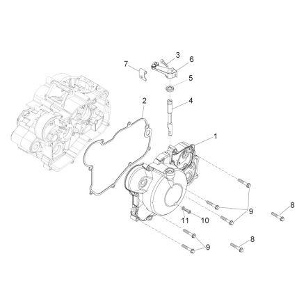 Aprilia - Clutchdeksel - RS4 50
