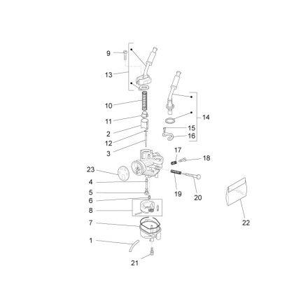 Aprilia - Forgasserdeler - RS4 50