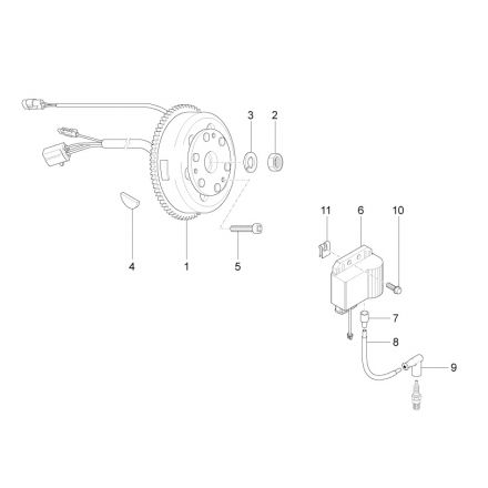 Aprilia - Svinghjul/CDI - RS4 50