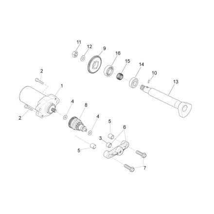 Aprilia - Startmotor/Balanseaksel - RS4 50
